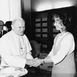 Karna with Pope John Paul II